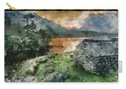 Digital Watercolor Painting Of Panorama Landscape Stunning Sunri Carry-all Pouch