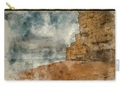 Digital Watercolour Painting Of Beautiful Vibrant Sunset Landsca Carry-all Pouch