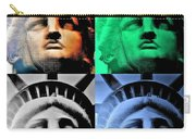 Lady Liberty In Quad Colors Carry-all Pouch