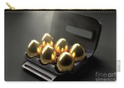 Six Golden Eggs In An Egg Carton Carry-all Pouch
