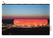 Soccer Stadium Lit Up At Dusk, Allianz Carry-all Pouch