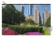 Summer Flowers In Bloom, Millennium Park, Chicago City Center, I Carry-all Pouch