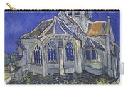 The Church In Auvers Sur Oise  View From The Chevet  Carry-all Pouch