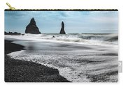 The Dramatic Black Sand Beach Of Reynisfjara. Carry-all Pouch