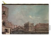 The Grand Canal Above The Rialto  Carry-all Pouch