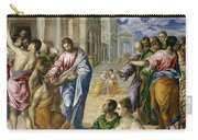 The Miracle Of Christ Healing The Blind  Carry-all Pouch