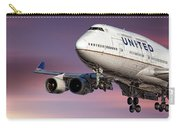 United Airlines Boeing 747-422 Carry-all Pouch