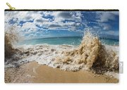 View Of Surf On The Beach, Hawaii, Usa Carry-all Pouch