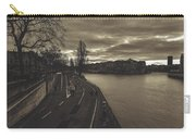 Walking Along The Seine At Sunset Carry-all Pouch