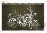2018 Triumph Street Triple R Blueprint, Vintage Brown Background,gift For Him Carry-all Pouch