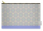 A Repeating Pattern Featuring A Multi-colored Conceptual Flower  Carry-all Pouch