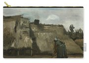 A Peasant Woman Digging In Front Of Her Cottage Carry-all Pouch