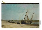 Boats On The Seacoast At Etaples  Carry-all Pouch