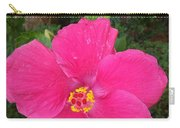 Bright Pink Hibiscus Carry-all Pouch