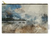Digital Watercolor Painting Of Beautiful Summer Sunrise Landscap Carry-all Pouch
