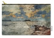 Digital Watercolor Painting Of Sunrise Over Rocky Coastline On M Carry-all Pouch