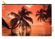 Palm Trees At Sunset, Moorea, Tahiti Carry-all Pouch