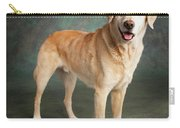 Portrait Of A Labrador Mixed Dog Carry-all Pouch