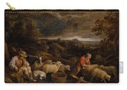 Shepherds And Sheep  Carry-all Pouch