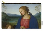 The Virgin And Child With An Angel  Carry-all Pouch