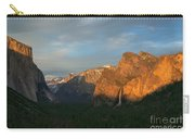 View Of Yosemite Valley From Tunnel View Point At Sunset Carry-all Pouch
