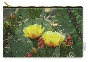 Yellow Prickly Pear Flowers Carry-all Pouch