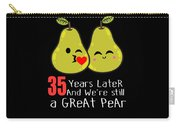 35th Wedding Anniversary Funny Pear Couple Gift Carry-all Pouch