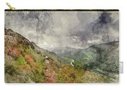 Digital Watercolor Painting Of Landscape Image Of View From Prec Carry-all Pouch