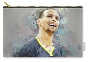 Portrait Of Stephen Curry Carry-all Pouch
