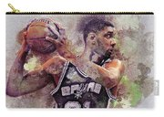 Portrait Of Tim Duncan Carry-all Pouch