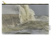 Stunning Dangerous High Waves Crashing Over Harbor Wall During W Carry-all Pouch