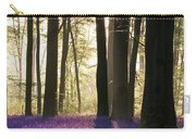 Stunning Bluebell Forest Landscape Image In Soft Sunlight In Spr Carry-all Pouch