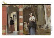 The Courtyard Of A House In Delft  Carry-all Pouch