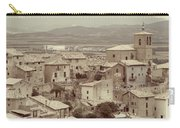 Beautiful Medieval Spanish Village In Sepia Tone Carry-all Pouch