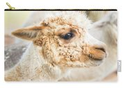 Alpaca In A Field. Carry-all Pouch by Rob D Imagery