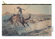 A Bucking Bronco, Edward Borein Carry-all Pouch