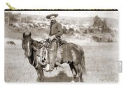A Cowboy On Horseback, Photo, 19th Century Carry-all Pouch