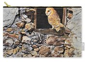 A New Home Barn Owl Carry-all Pouch by Alan M Hunt