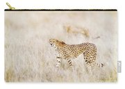 A Pair Of Cheetahs Move Steathily Through The Long Grass Of The  Carry-all Pouch