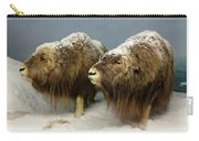 A Pair Of Musk Oxen, International Wildlife Museum, Tucson, Ariz Carry-all Pouch