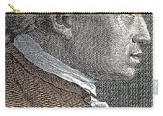 A Portrait Of Immanuel Or Emmanuel Kant Carry-all Pouch