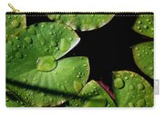 A Red Leaf Among The Water Lily Pads Carry-all Pouch