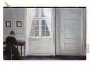 A Room In The Artist's Home In Strandgade, Copenhagen, With The Artist's Wife - Digital Remastered Carry-all Pouch
