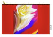 A White Rose In An Abstract Style. Carry-all Pouch