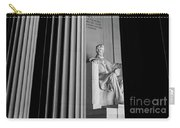Abraham Lincoln Memorial Washington Dc Carry-all Pouch by Edward Fielding