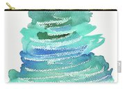 Abstract Fir Tree Christmas Watercolor Painting Carry-all Pouch
