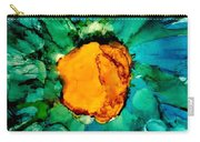 Abstract Gerbera Ink Flower Carry-all Pouch