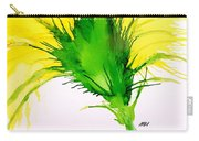 Abstract Ink Yellow Flower Carry-all Pouch