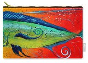 Abstract Mahi Mahi Carry-all Pouch