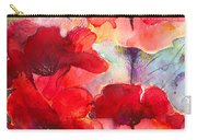 Abstract Poppies Carry-all Pouch